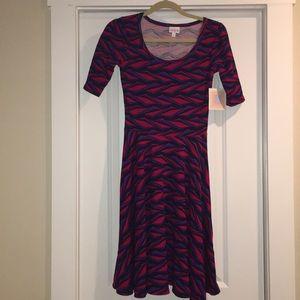 New with tags LuLaRoe midi Nicole Dress